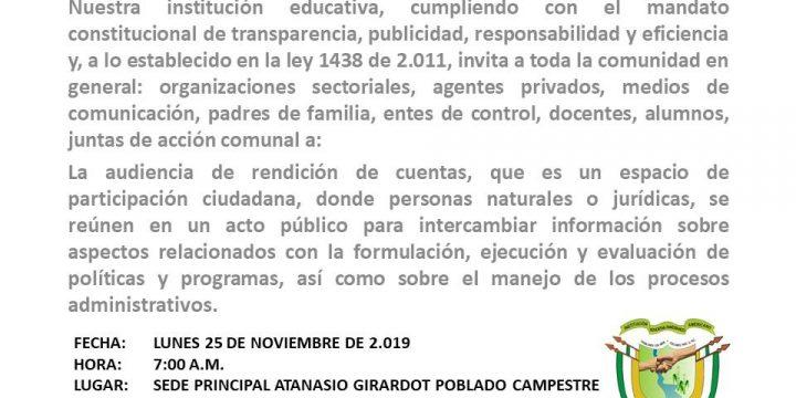 AUDIENCIA PÚBLICA DE RENDICIÓNDE CUENTAS