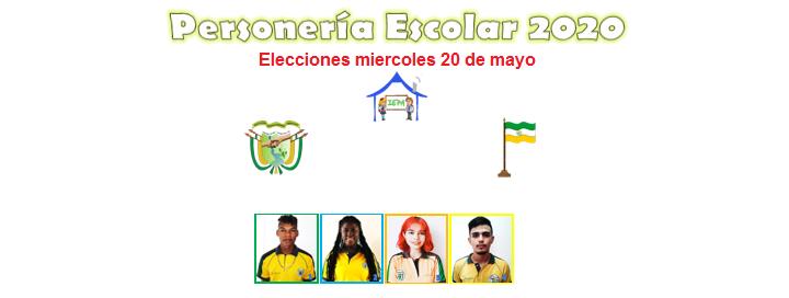 Resultado votación a personero escolar 2020.